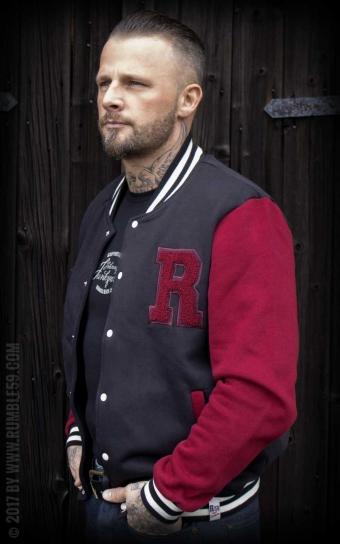 college jakke rød
