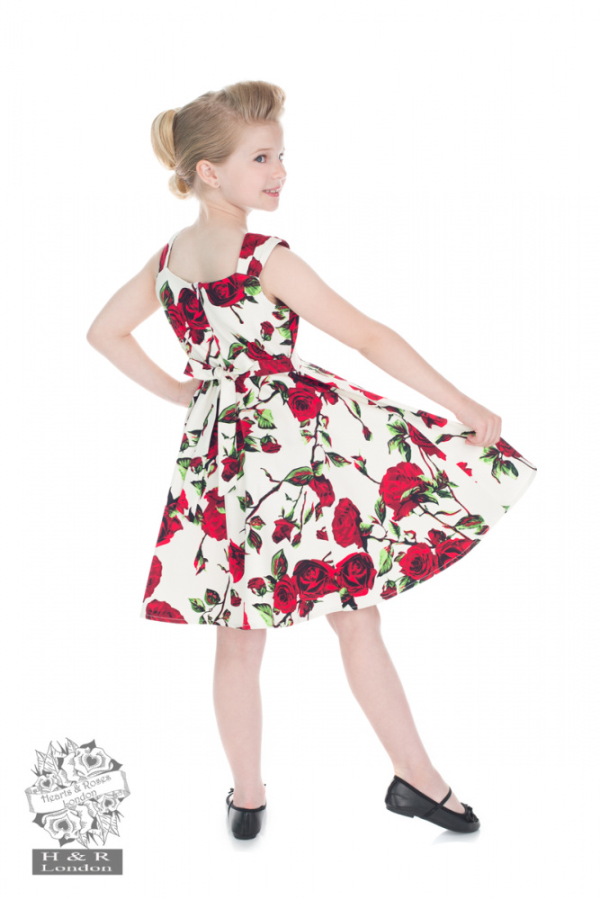 H&R Ditsy Rose Blomster Swing Kjole - Fønix
